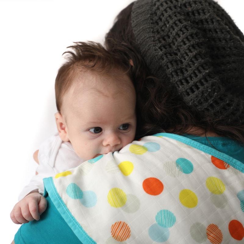 סינר טטרה לתינוק - דגם נקודות