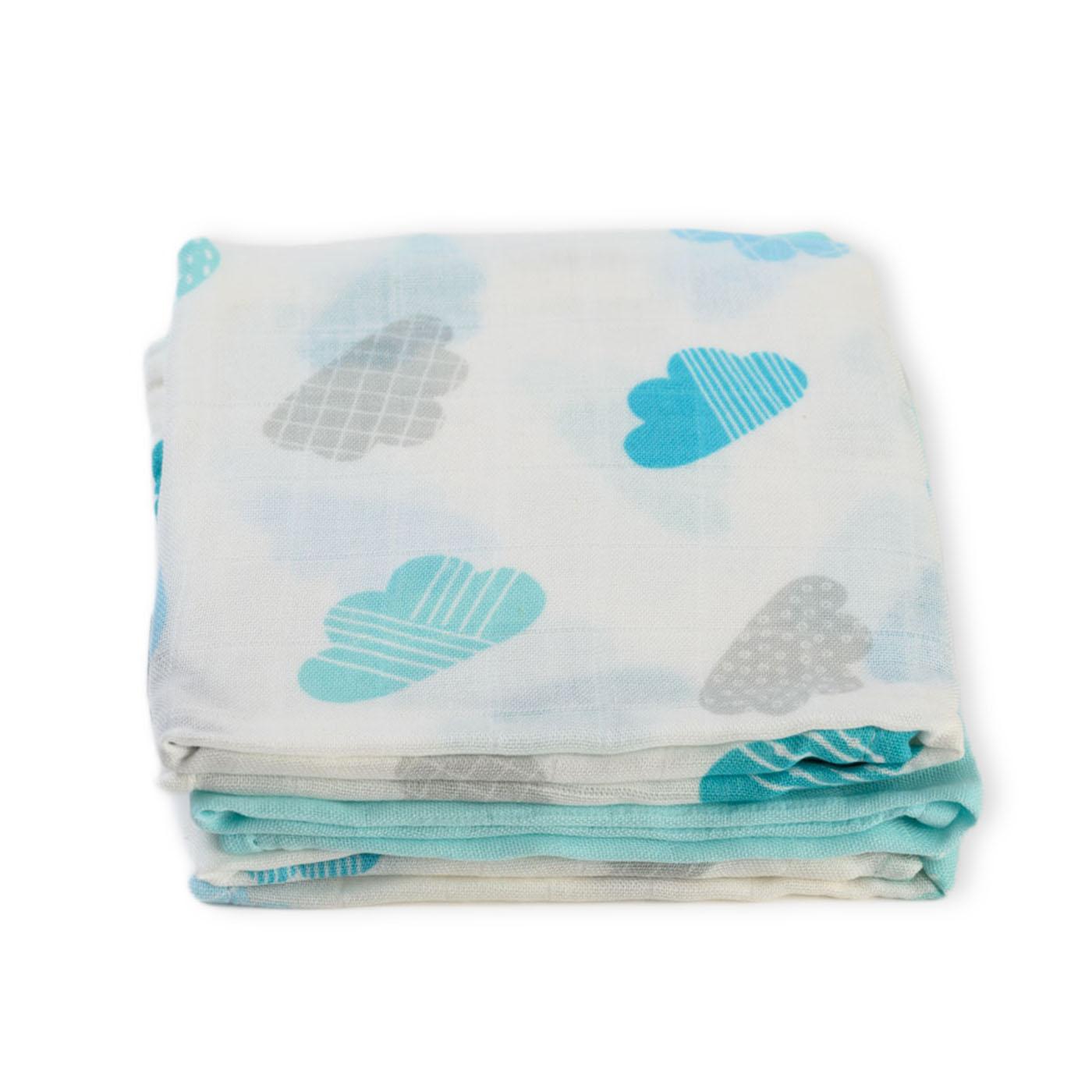 Muslin burp cloths - Clouds