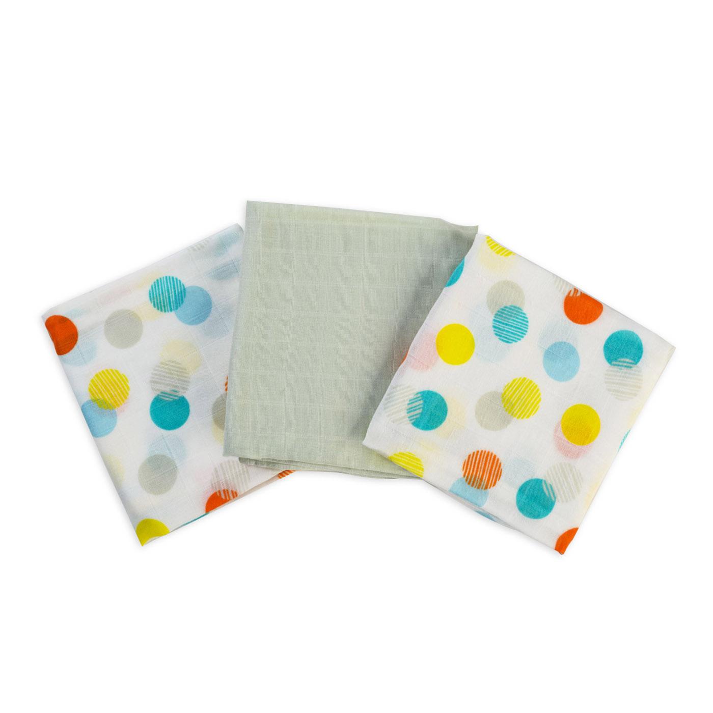 Muslin burp cloths - confetti