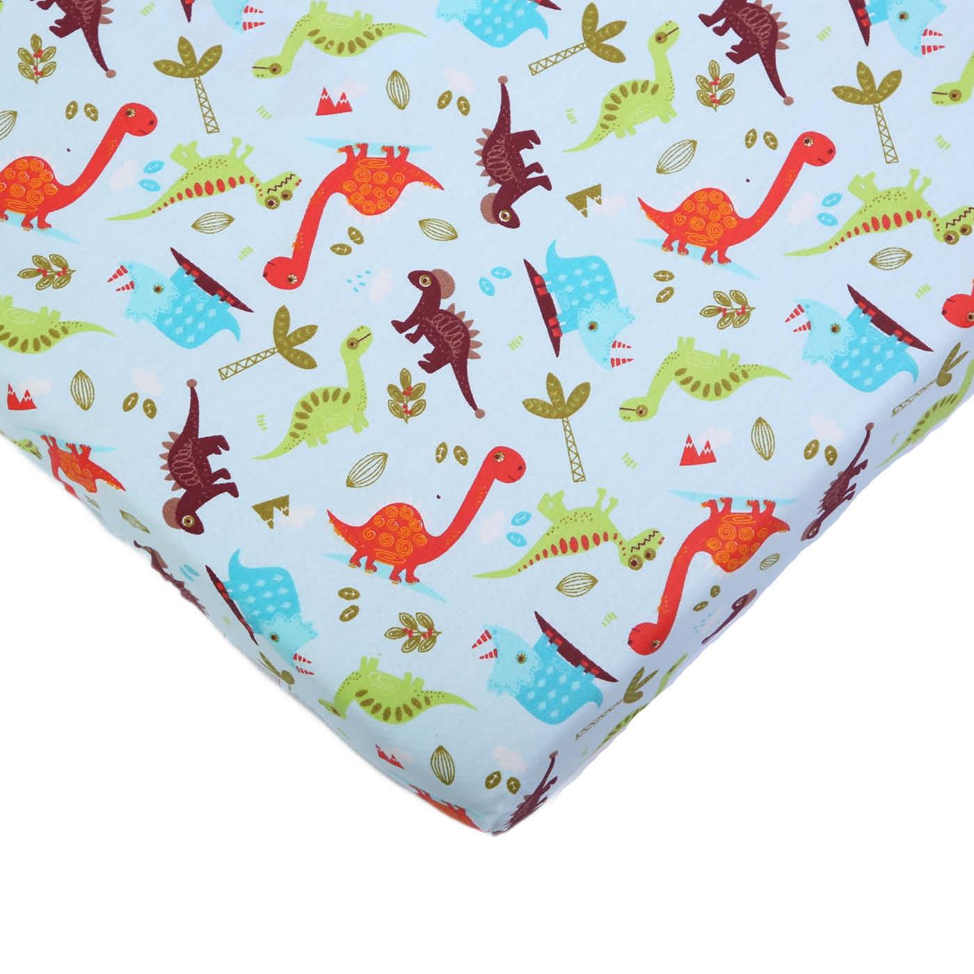 Простыня для детской кроватки - Динозавр