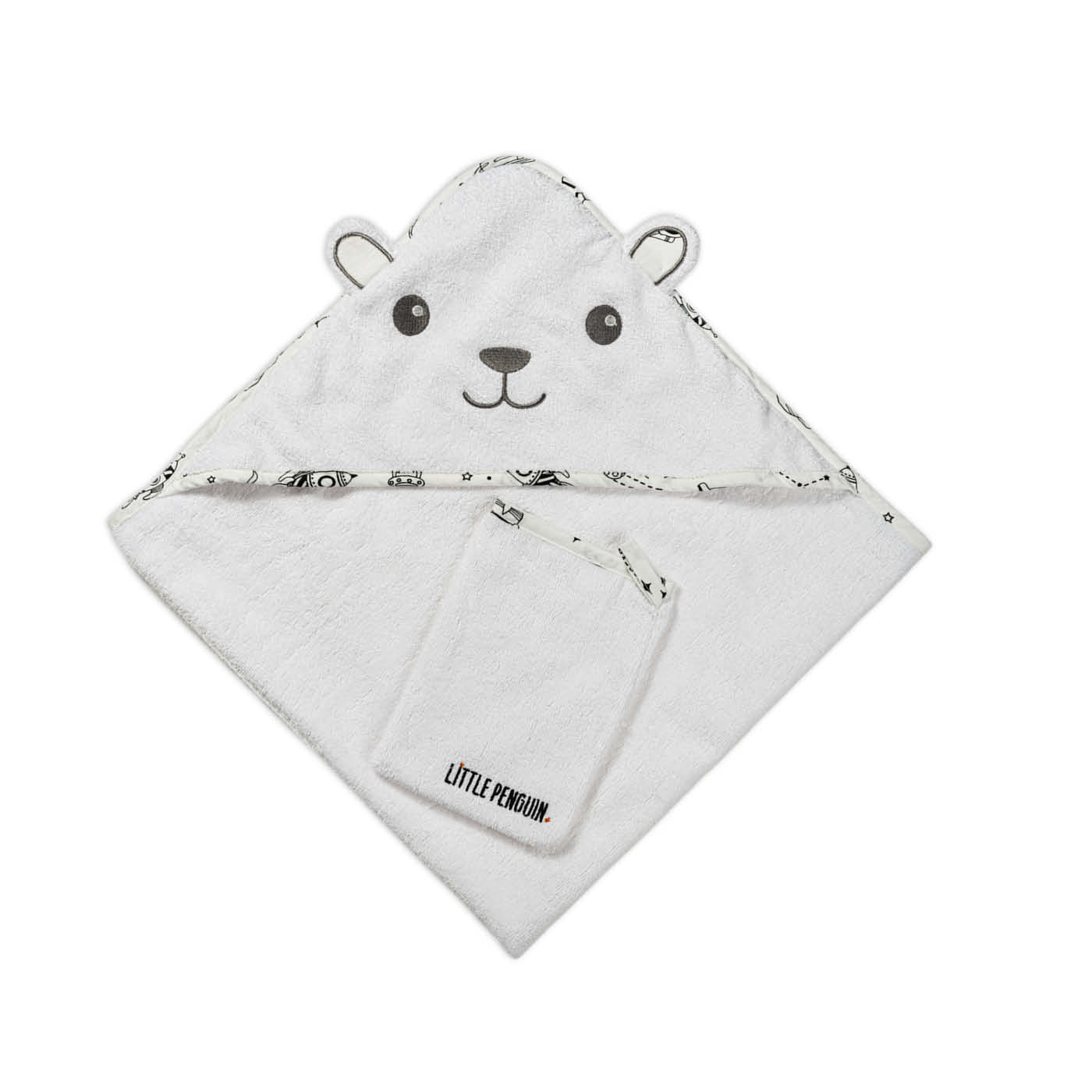 Hooded towel - Space