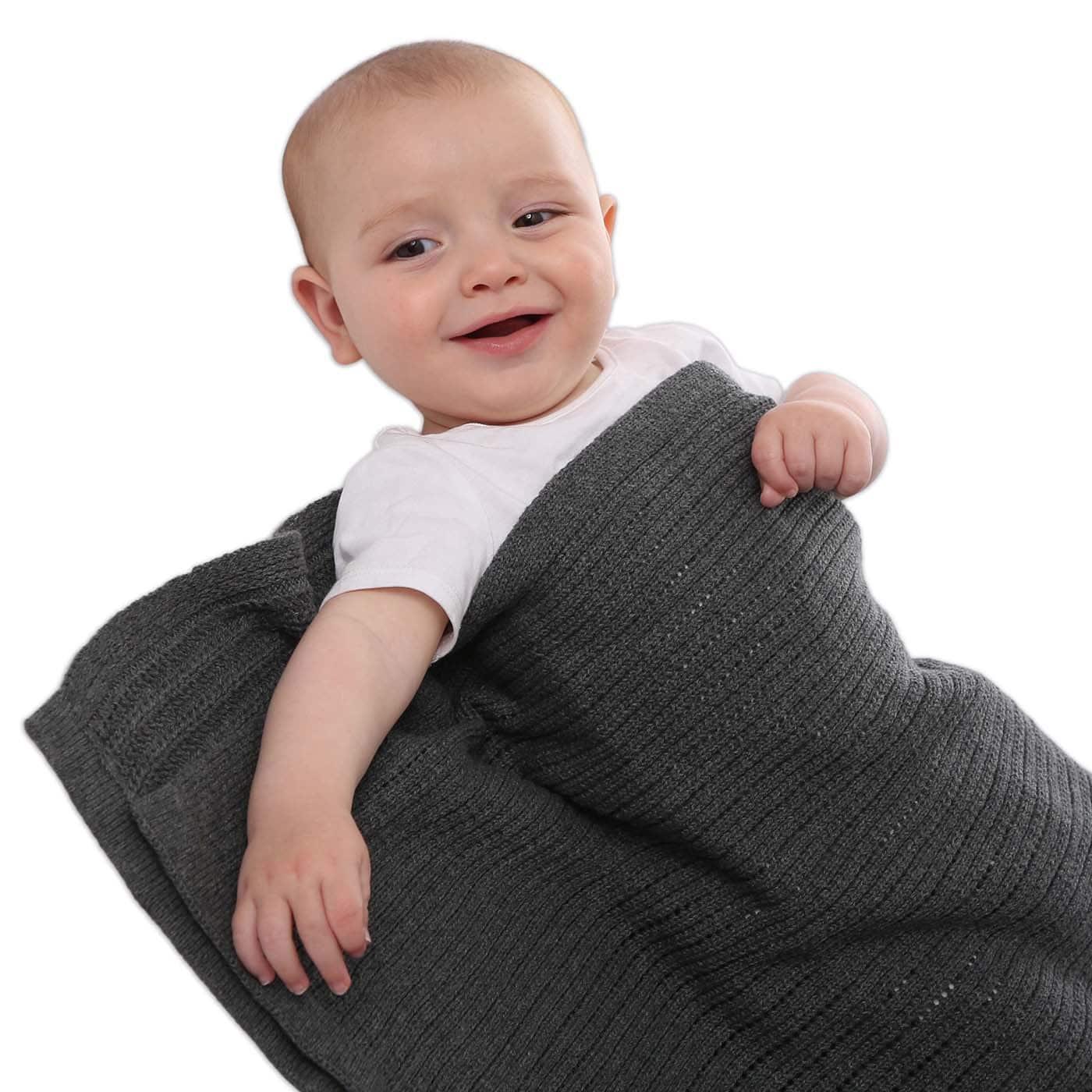 Cellular blanket - Charcoal