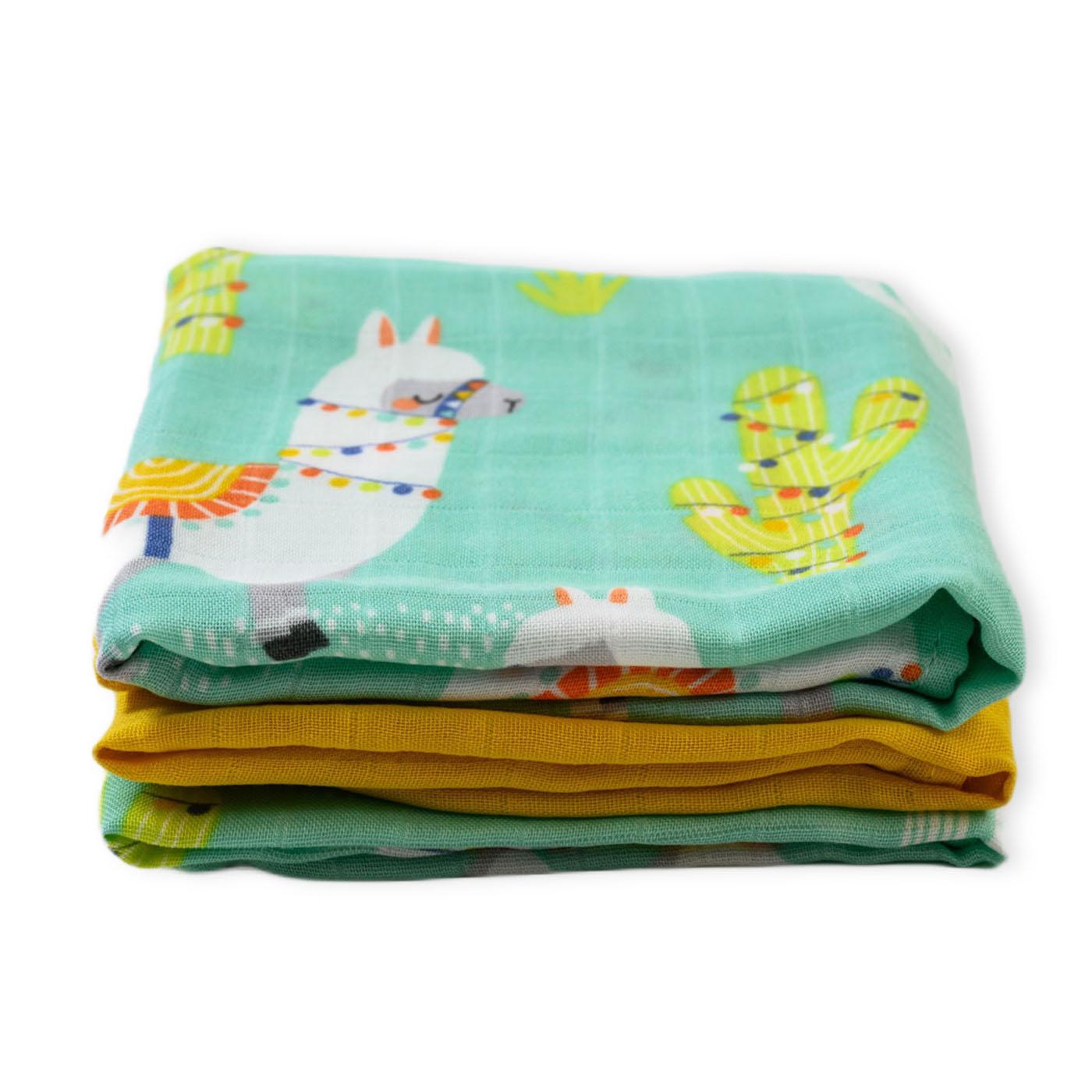 Muslin burp cloths - Llamarama
