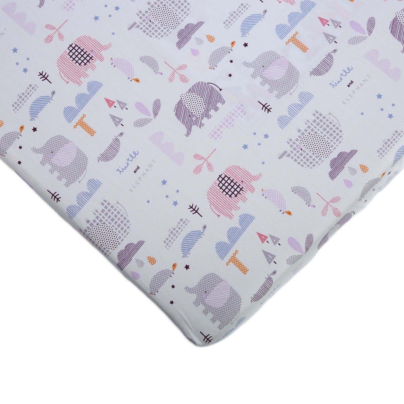 Cot sheet - Pink elephant
