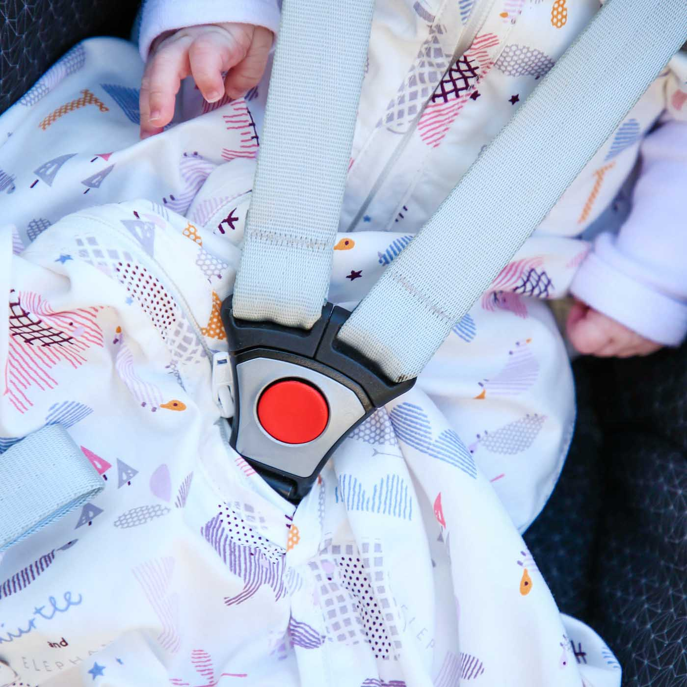 Travel sleeping bag - Pink elephant