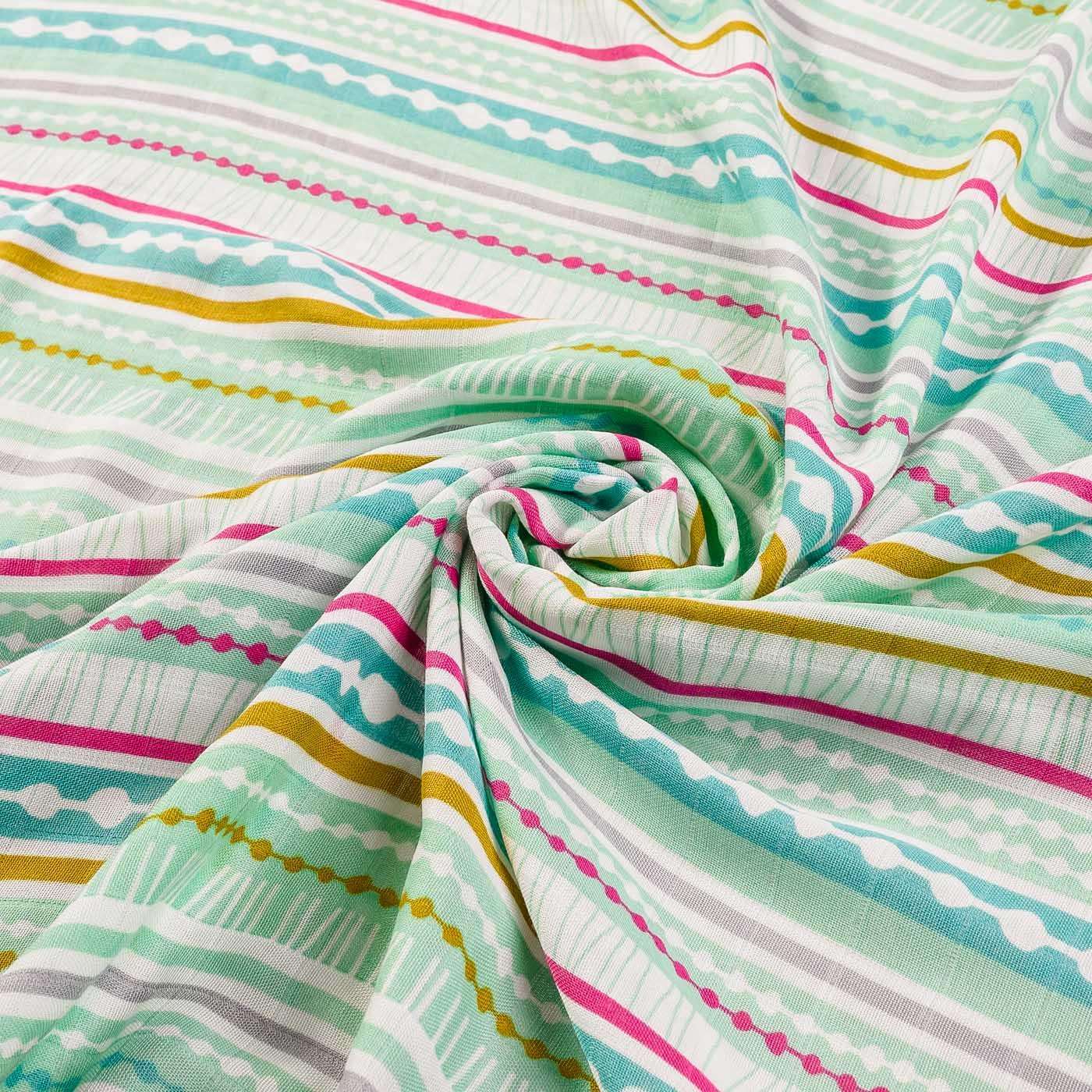 Бамбуковая пеленка - полосатый шик