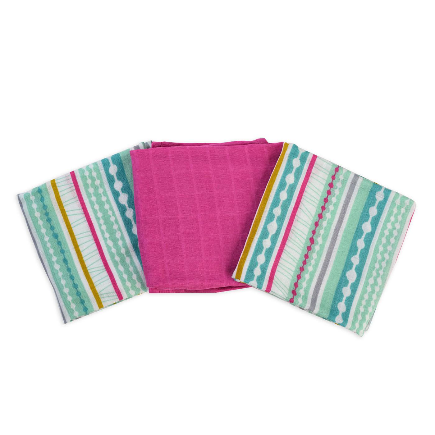 Muslin burp cloths - Stripy chic
