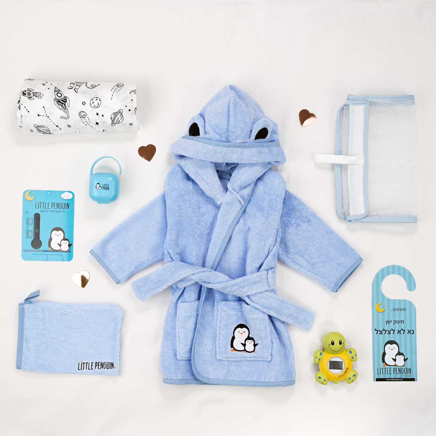 Bubbles and cuddles - Bathrobe gift set
