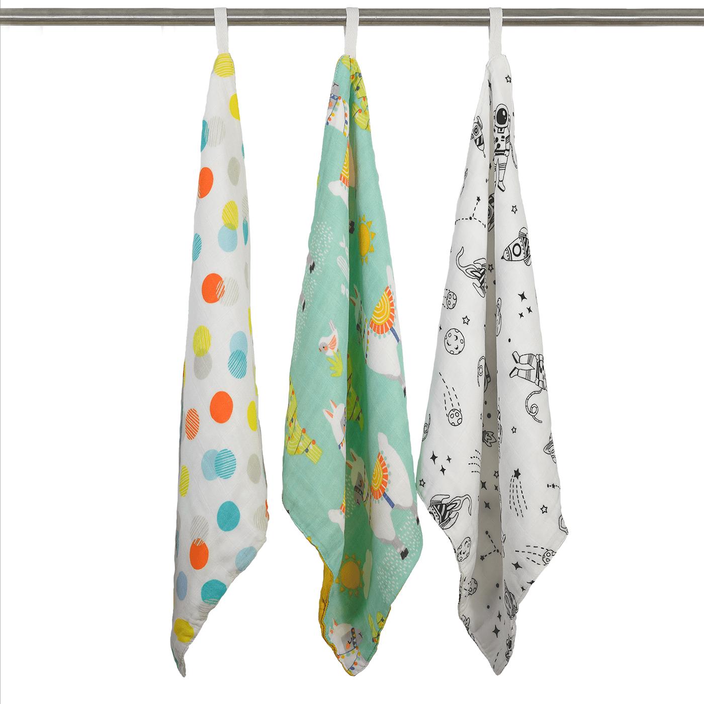 Muslin washcloths - 3 pack