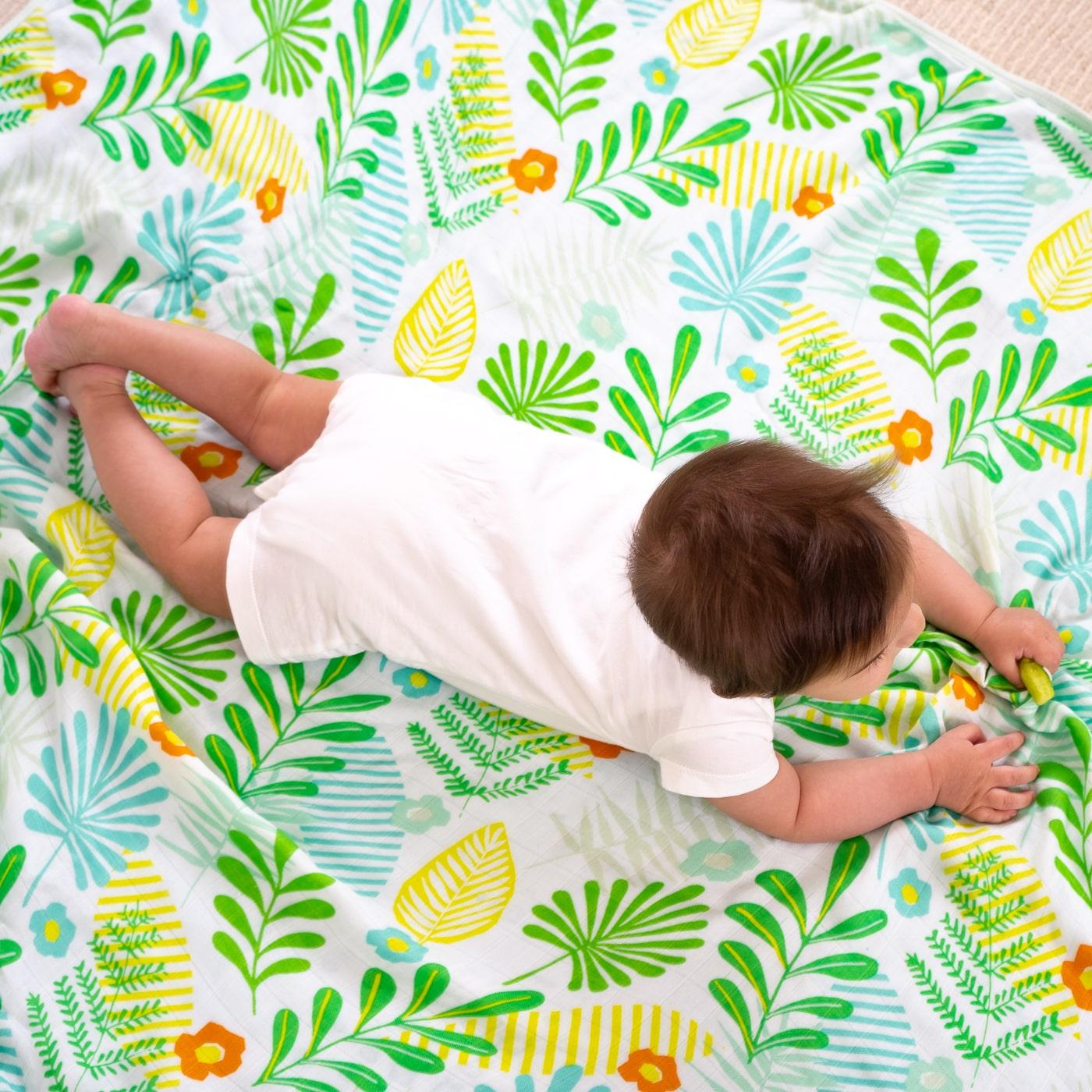 Муслиновое одеяло - Тропическая пальма