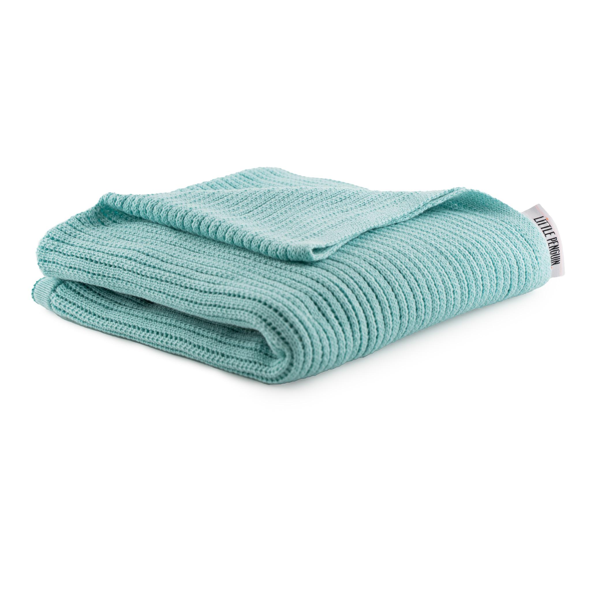 بطانية اطفال محيّكة - ازرق
