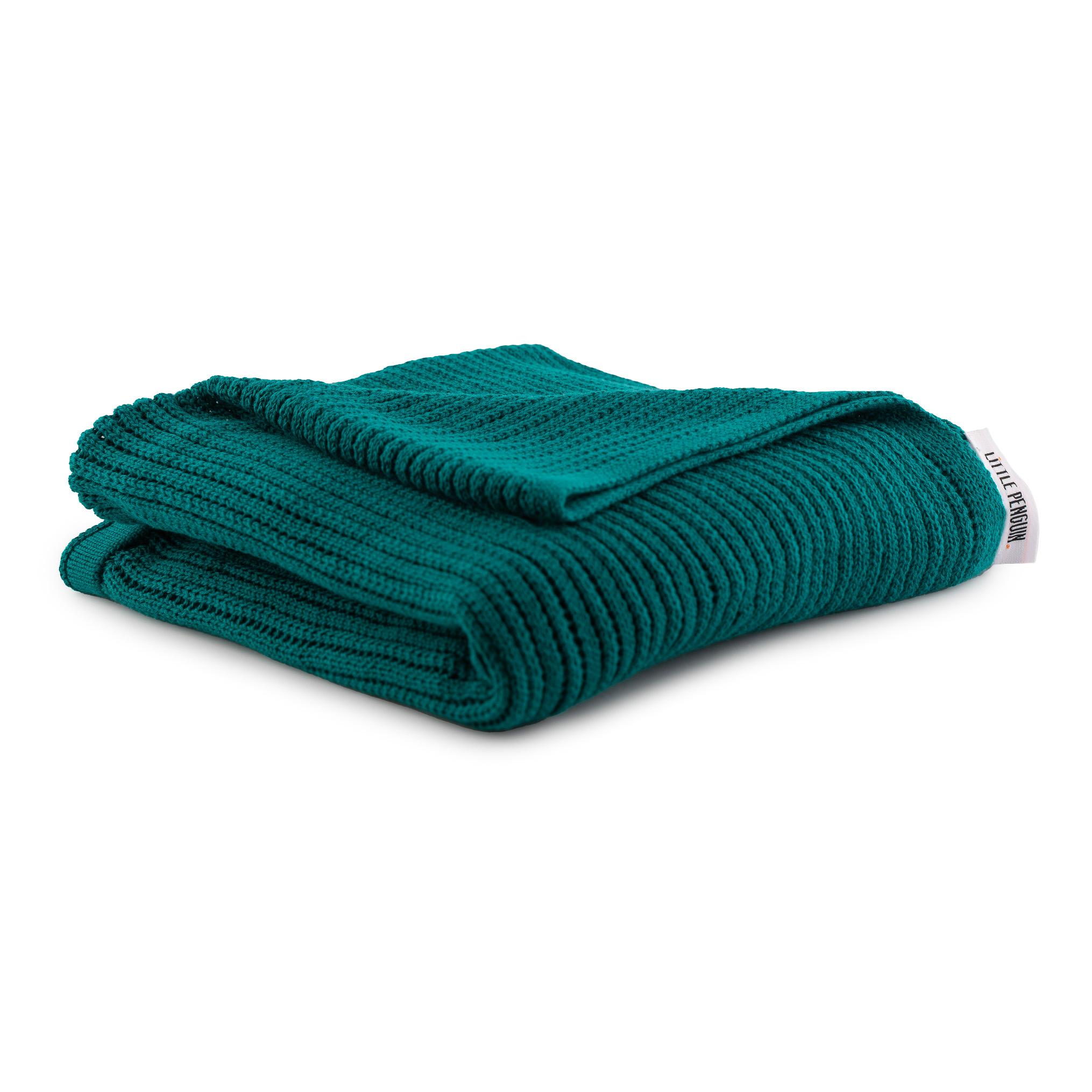 بطانية اطفال محيّكة - تركواز
