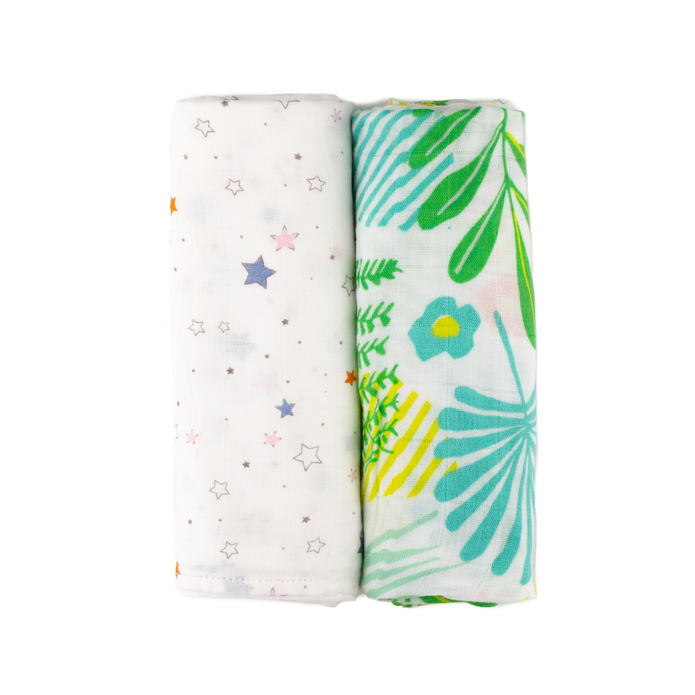 2-pack bamboo muslin squares - 120x120 cm
