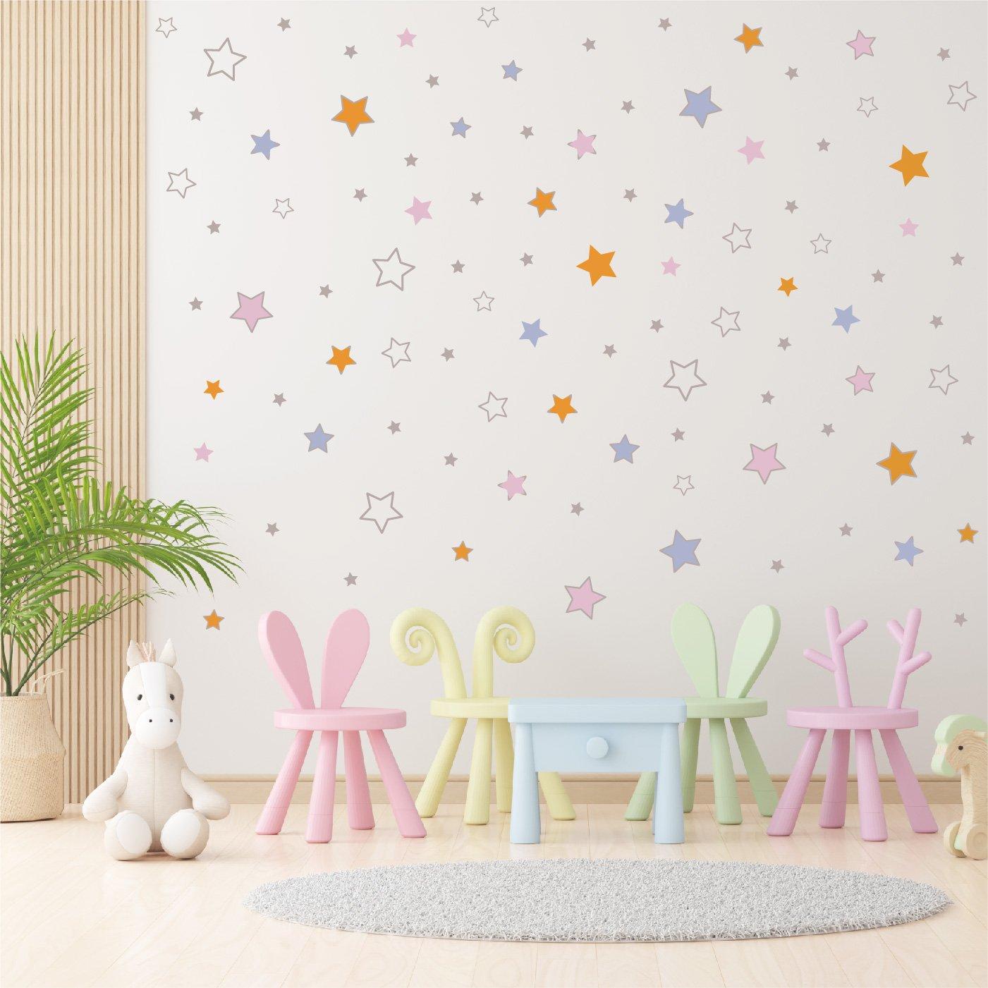 Wall stickers - Pink stars