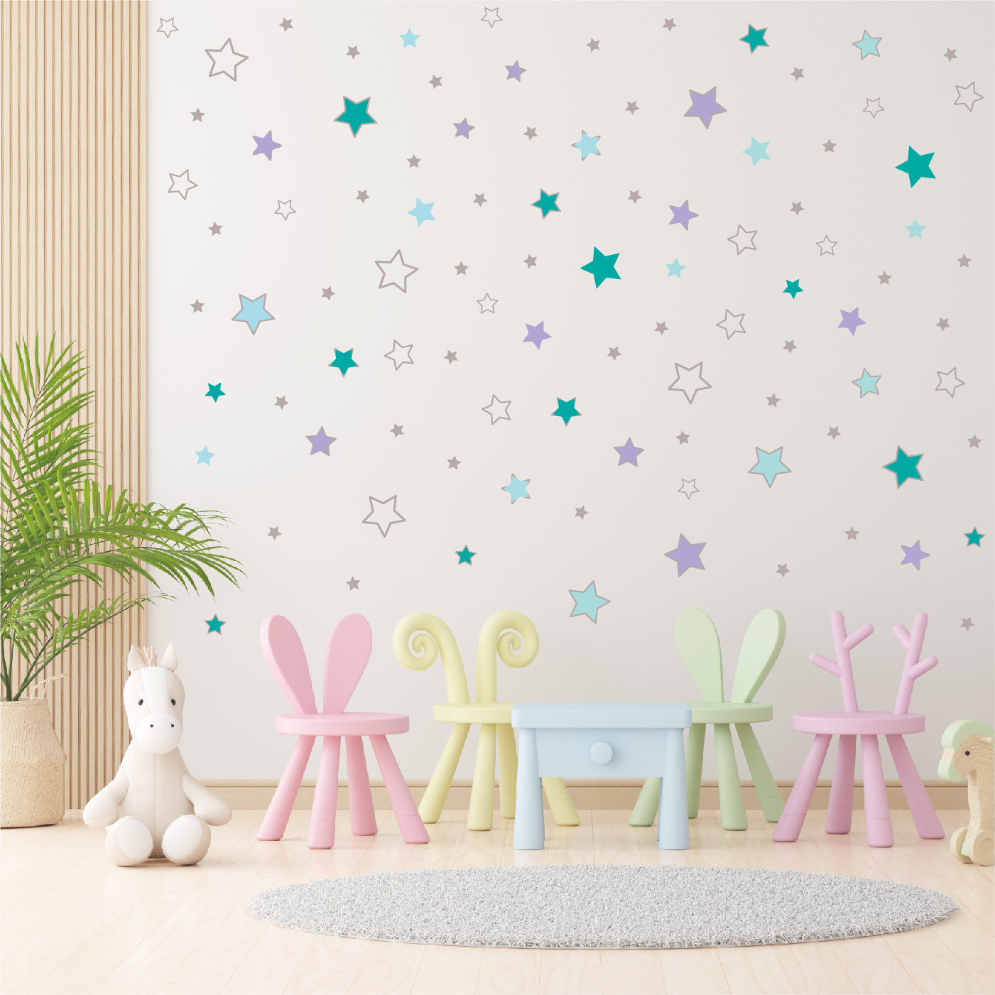 Wall stickers - Turquoise stars